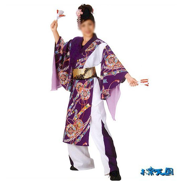 よさこい コスチューム (迅20011) レディース 上衣 祭り まつり 衣装 衣裳 【お取り寄せ商品】