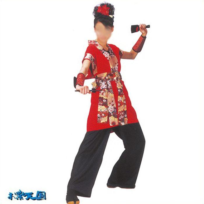 袖無し 長袢天 よさこい 半纏 袢纏 (k20068) はっぴ 法被 祭り 衣装 衣裳 袢天 【お取り寄せ商品】