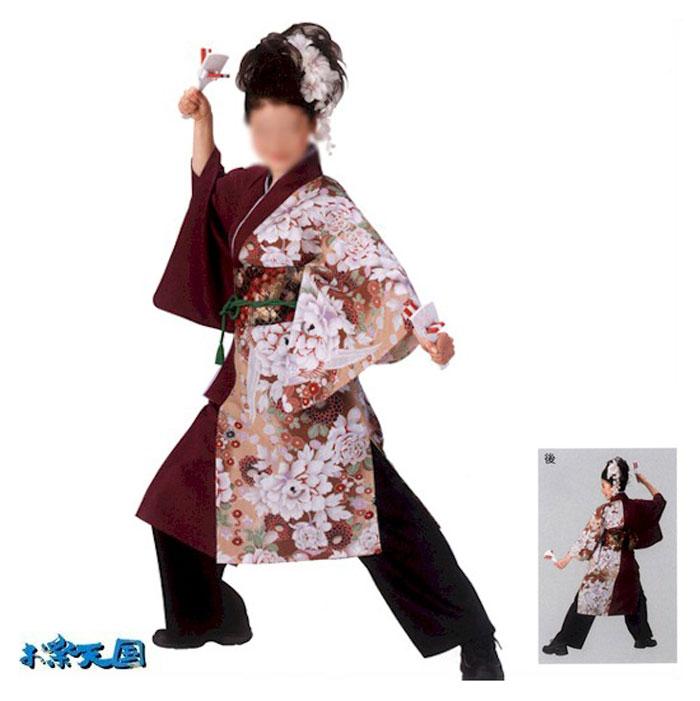 よさこい コスチューム 男女 兼用 (k会73135) きもの 長袢天 M L 祭り 衣装 衣裳 【お取り寄せ商品】