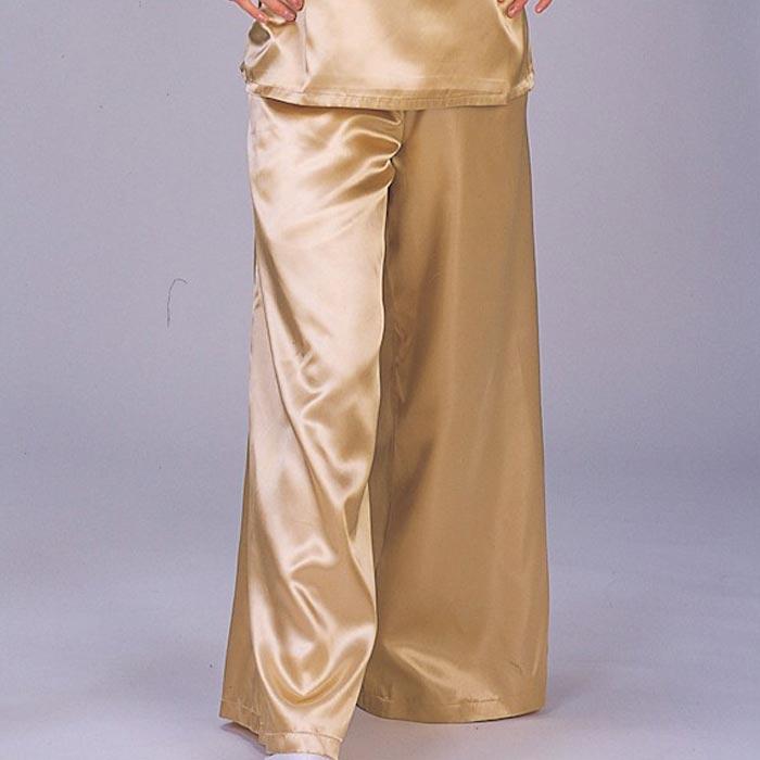 サテン ワイド パンツ ゴールド (o7981) よさこい 祭り 衣装 まつり 衣裳 【お取り寄せ商品 1点までメール便可】