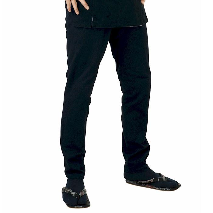 本刺子 股引 黒 (o厚9612) 黒股引 ブラック 祭り 衣装 バッチ ももひき まつり 【お取り寄せ商品】