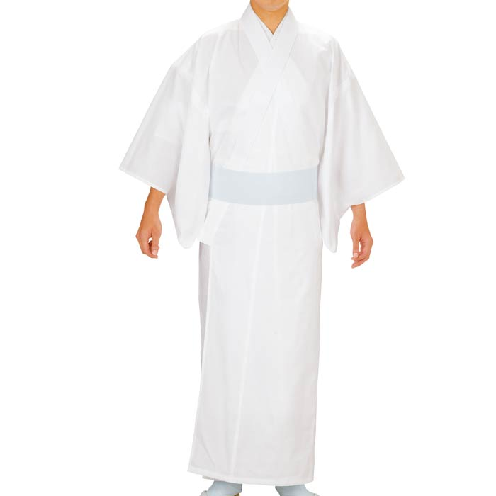 神寺用 着物 白 夏用 (男5208-女5211) 綿 寺 神宮 社寺 僧侶 寺用 神官 神主 衣裳 衣装 神社