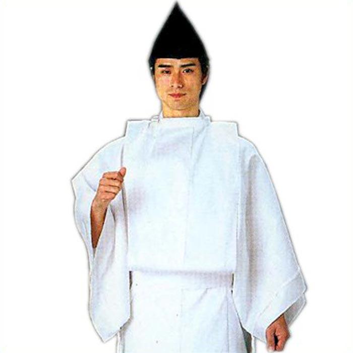 白丁 烏帽子付 (s892) 白丁衣裳 はくちょう 衣装 神官 神社 送料無料 【お取り寄せ商品】