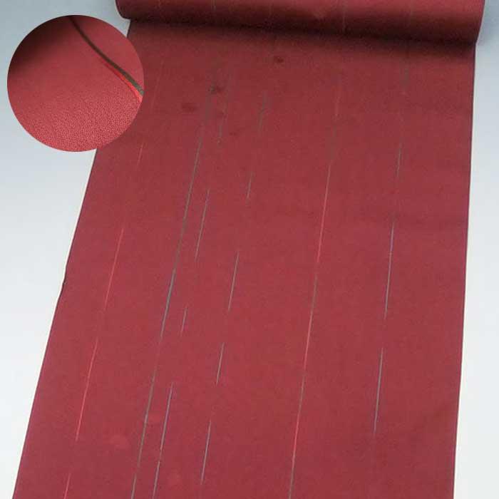 正絹 西陣 雨コート反物 蘇芳地 万寿菊 縞 雨コート きもの 未仕立て 雨用