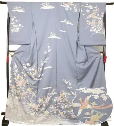 仮絵羽 訪問着 鳳凰 牡丹着物 蔵出し 特価 きもの ほうもんぎ 礼装 送料無料
