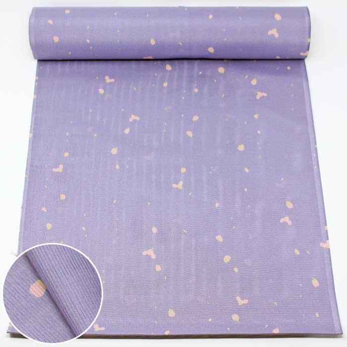 東レシルック 反物 絽 薄紫 蕾 夏物 薄物 夏 小紋 東レ シルック 洗える着物 きもの 送料無料