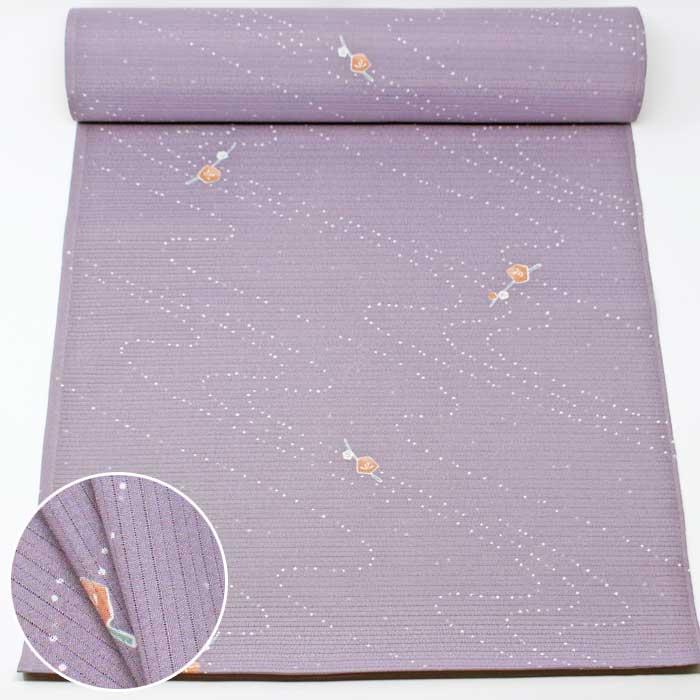 洗える 小紋 着尺 薄紫 梅 絽ちりめん 絽 縮緬 夏物 薄物 洗える着物 着物 きもの 反物 たんもの 和裁 和装 布 生地