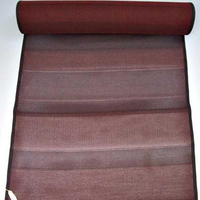 【タイムセール】 正絹 夏羽尺 縞 反物 羽織 コート 未仕立て 絽 紗 羅 絹 送料無料