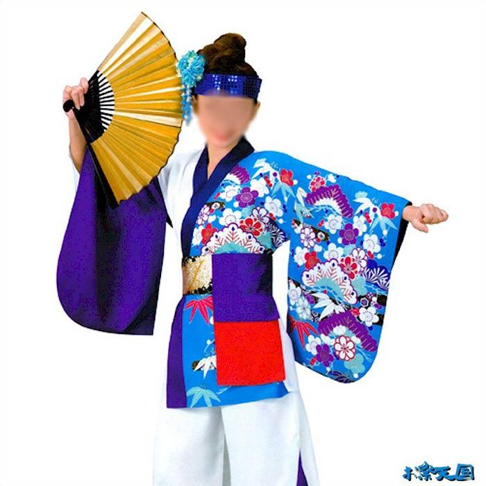 よさこい コスチューム (k桶73003) レディース 上衣 よさこい衣装 祭り 衣装 衣裳 【お取り寄せ商品】