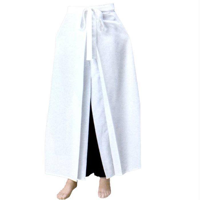 袴風 ワイドパンツ 白 (k廊76140) ワイド パンツ 衣裳 ズボン よさこい コスチューム 祭り 【お取り寄せ商品】