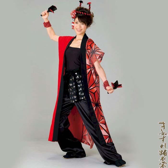 よさこい コスチューム 袖なし袢天 男女兼用 (k在20078)よさこい衣装 祭り 衣装 衣裳 【お取り寄せ商品】