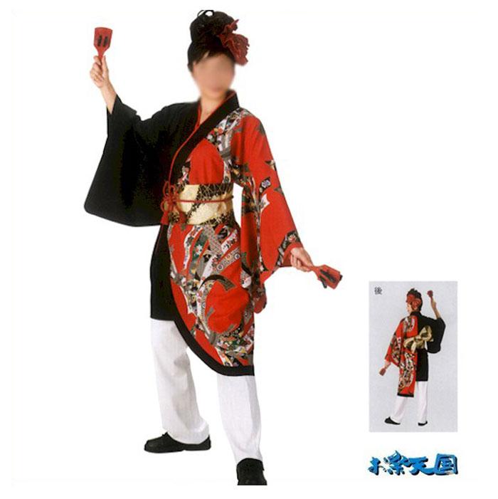よさこい コスチューム 打合せ袢天 レディース (k門20102) よさこい衣装 祭り 衣装 衣裳 【お取り寄せ商品】