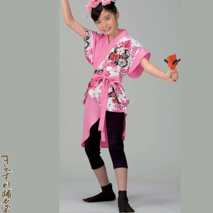 よさこい コスチューム ジュニア用 (k服20035)上衣 140 祭り 衣装 衣裳 子供用 こども キッズ まつり 【お取り寄せ商品】