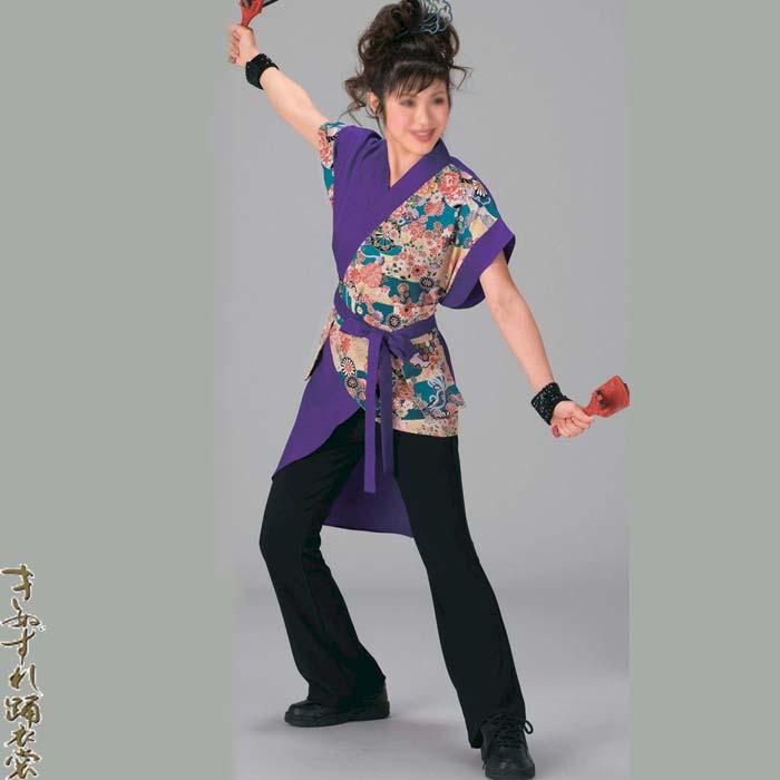 よさこい コスチューム レディース 上衣 鳴子入れ付きベルト セット (k寄20038) よさこい衣装 祭り 衣装 衣裳 【お取り寄せ商品】