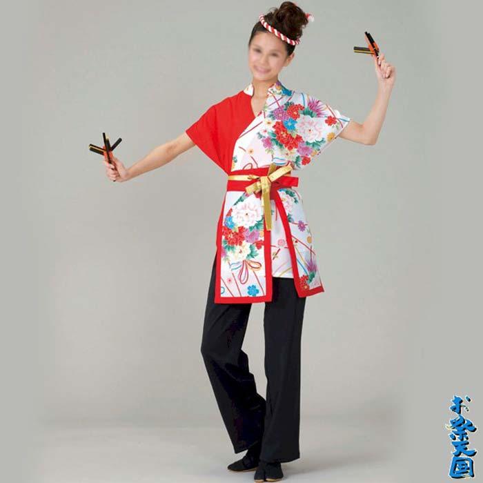 よさこい コスチューム レディース 上衣 帯 セット (k寸73066) よさこい衣装 祭り 衣装 衣裳 【お取り寄せ商品】