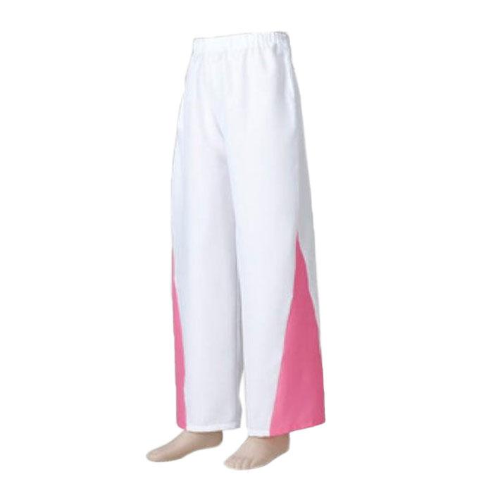 よさこい衣装 ピンクの切れ込みがかっこいい よさこい 衣装 スウィングパンツ 白 × 祭り オープニング 大放出セール お取り寄せ商品1点までメール便可 コスチューム ふるさと割 ピンク 衣裳 k匂20631