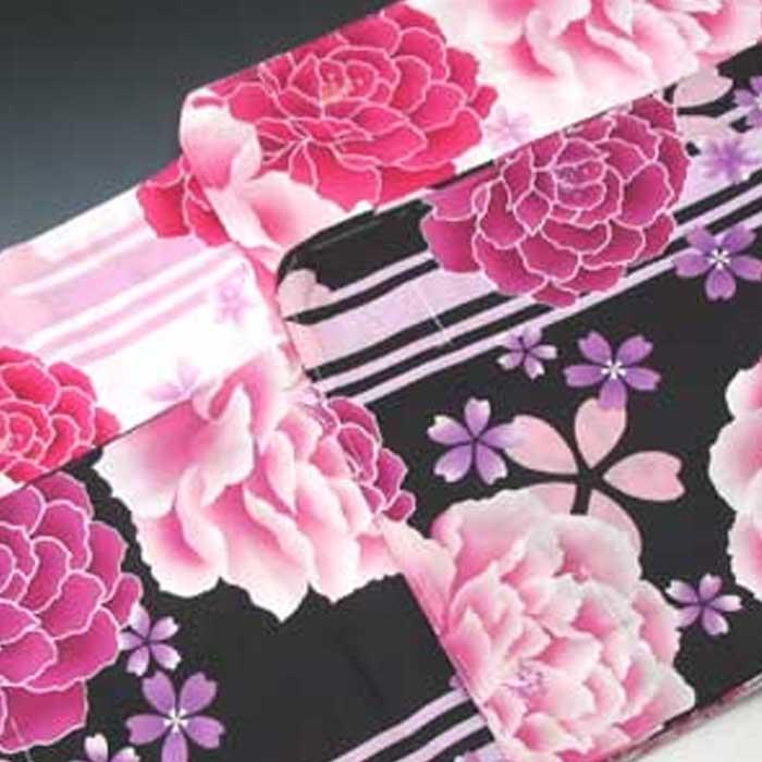オトメノユメ ゆかた 大輪 牡丹 桜 モチーフ レディース 婦人 浴衣 単品