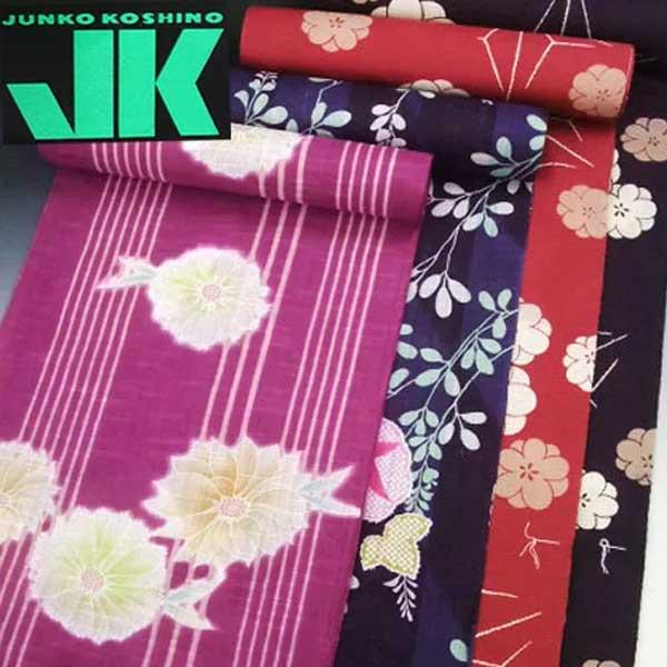 ブランド ゆかた 反物 JK JUNKO KOSHINO かわり織 浴衣 たんもの 仕立て 和裁 夏 着物 ジュンココシノ