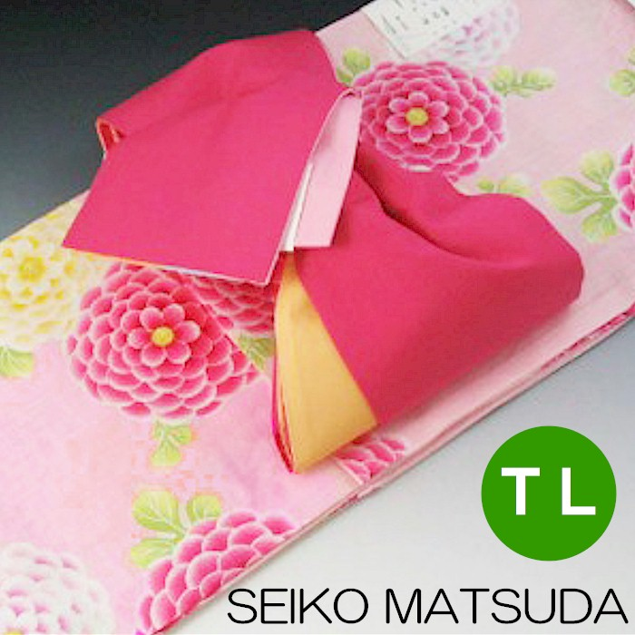 SEIKO MATSUDA ゆかた セット TL ピンク トールサイズ ブランド 浴衣 ゆかたセット 松田聖子 浴衣 帯 夏
