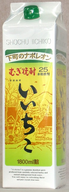 三个日本酒烧酒大麦好幸子 25 度 1800 毫升纸盒