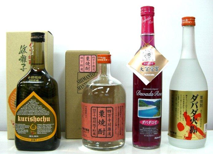 栗焼酎 4本組 ダバダ火振りと元祖栗媛囃子のセット(E)