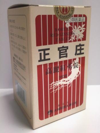 【第3類医薬品】大木製薬 正官庄 高麗紅参錠 380錠【送料無料】【10】高麗人参6年根