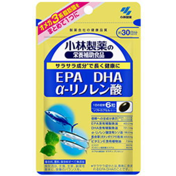 小林製薬 EPA DHA α-リノレン酸 180粒 6個セット【ネコポス対応可】