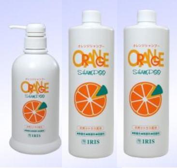 オレンジシャンプー(ポンプ式600mL+徳用詰替940mL×2本)アイリス