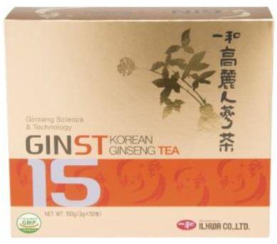 アイジェイ ジンスト15 高麗人参茶 (3g×50包) 3個セット【送料無料】