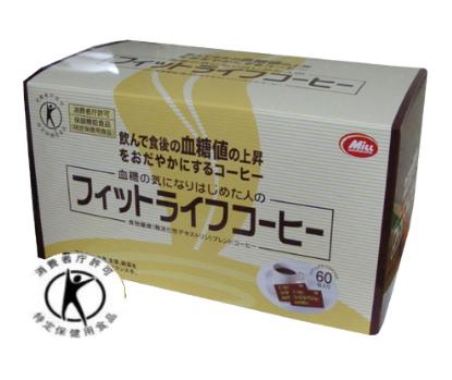 ミル総本社 フィットライフコーヒー (8.5g×60包) 6個セット 【送料無料】【特定保健用食品】