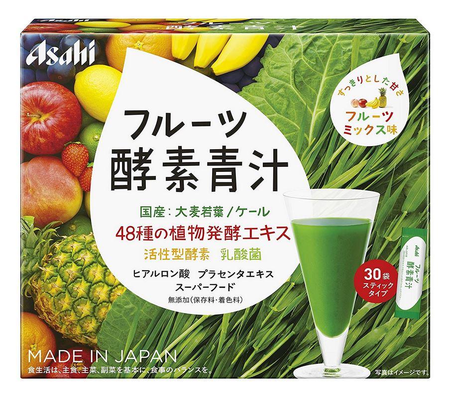 アサヒ フルーツ酵素青汁 90g(3g×30袋) 10個セット【送料無料】