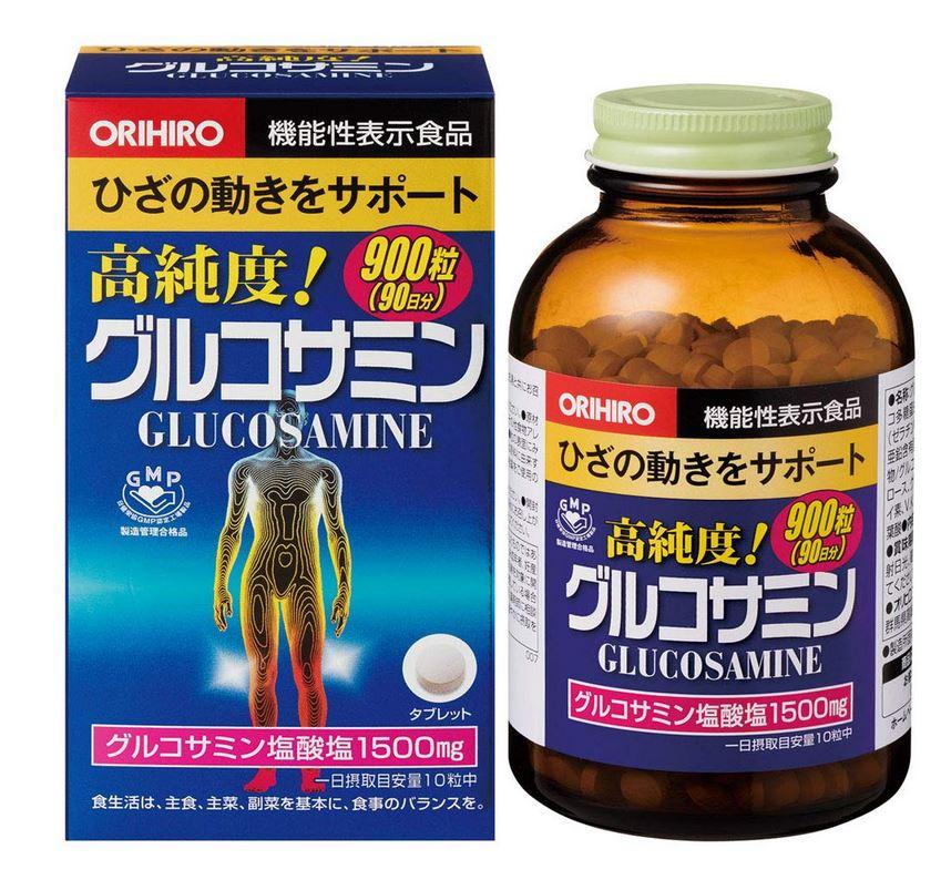 オリヒロ 高純度 グルコサミン粒 徳用 約900粒 15個セット【送料無料】【機能性表示食品】