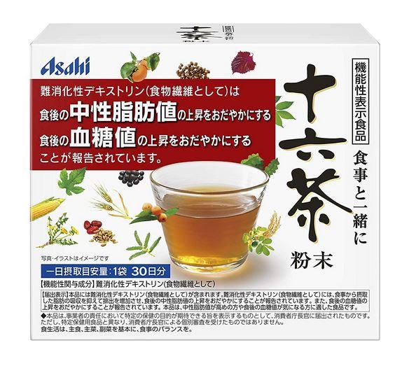 アサヒ 十六茶 粉末(7g×30袋)10個セット【送料無料】【機能性表示食品】