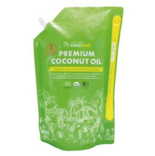 ココウェル ココナッツオイル 無香タイプ 有機ココナッツ100% コレステロールゼロ 中鎖脂肪酸約 定番スタイル MCT 国内正規総代理店アイテム 61% 送料無料 2L 有機JAS認定 3個セット プレミアム 1840g