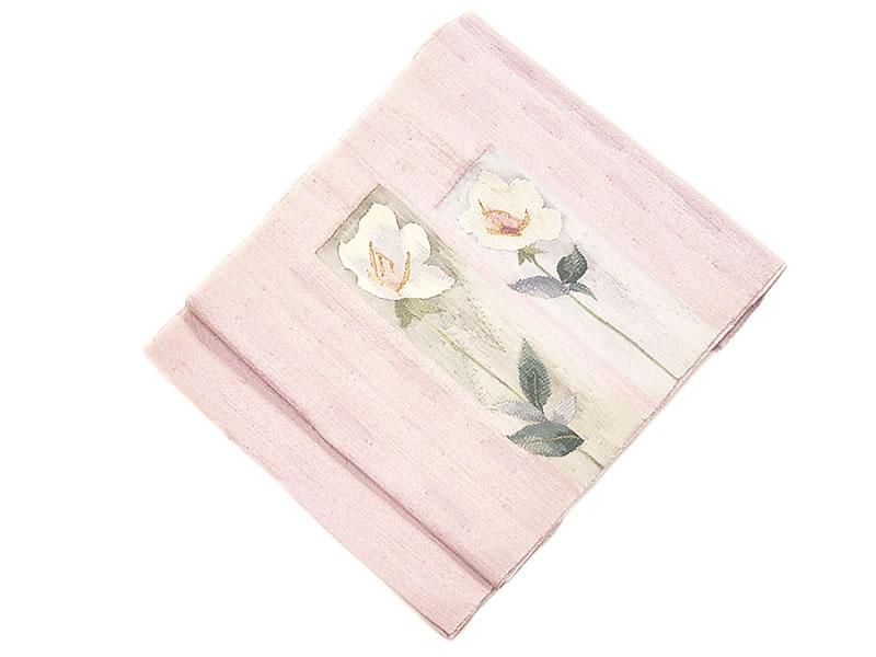 正絹 すくい すくい八寸名古屋帯 -薔薇- [ 1112-976 ]
