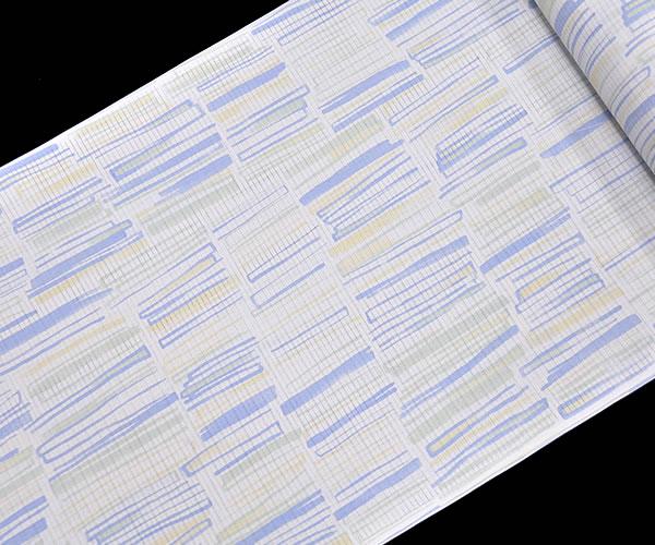 東レシルック 駒絽 小紋着尺 -パステル色鉛筆- [ 1505-1834 ] 【洗える・夏・着物・きもの・仕立て・素材・お茶席・フルオーダー・茶道・街着】