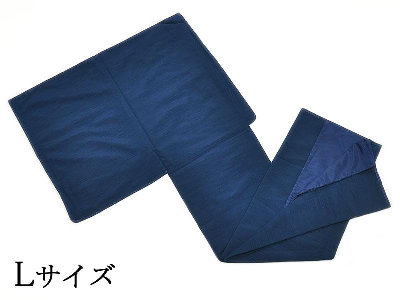 男物 ポリエステル プレタ紬風 無地袷着物 Lサイズ -藍色・紺- [ 1807-2775 ]【着物・きもの・あわせ・洗える・合繊・男性・メンズ・紳士・・シンプル・仕立て上り・既製品・つむぎふう・八掛】