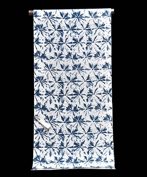 女物 IKS COLLECTION ゆかた 反物 -絞り風(乱絽)/白地- [ 1607-2097 ] 浴衣 仕立て フルオーダー 誂え 女性 レディース たんもの 花火 お祭り 夏 なつ 日本製 イクス しぼりふう 藍 綿 めん モダン お洒落 おしゃれ ろ 透ける