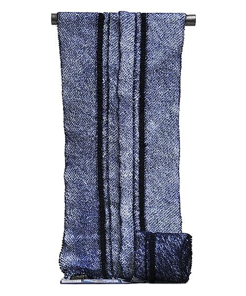 男物 鳴海有松 絞り浴衣 -子持縞・三浦絞り/藍色- [ 1608-2115 ] 【しぼり・フルオーダー・仕立て・夏・花火大会・お祭り・ゆかた・こもちしま・なるみありまつ・伝統工芸・男性・メンズ・女性・女物・綿】