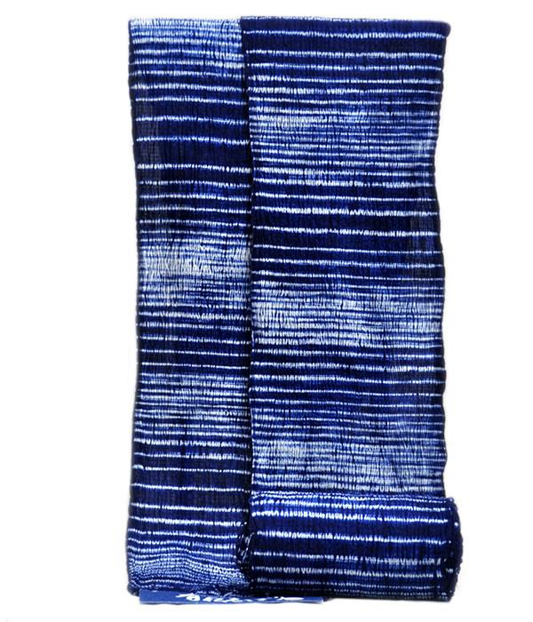 男物 鳴海有松 絞り浴衣 -横段/藍色系- [ 1803-2654 ] 【フルオーダー・仕立て・夏・花火大会・お祭り・ゆかた・なるみありまつ・伝統工芸・男性・メンズ・女性・女物・レディース・綿・めん・縫い目しぼり・巾広・日本製】