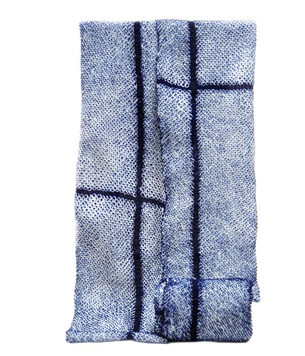 男物 鳴海有松 絞り ゆかた 反物 -クロス・三浦絞り/藍色- [ 1803-2671 ]  浴衣 しぼり フルオーダー 誂え 仕立て 夏 花火大会 お祭り 十字 なるみありまつ 伝統工芸 男性 メンズ 女性 女物 レディース 綿 めん あいいろ 白 縞 しま