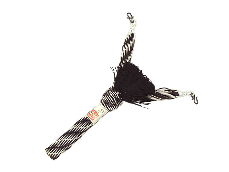 男物 正絹 夏羽織紐 平組 -変わりレース/焦茶×白- [ 1707-2429 ] 【楽ギフ_のし】【男性・メンズ・はおり・着付け小物・絹・きぬ・日本製・お洒落・おしゃれ・S管・ギフト・贈り物・プレゼント・父の日・敬老の日・オリジナル・2色・撚り房・モノトーン・モダン】