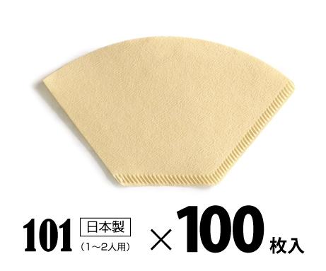 お洒落 コーヒーフィルター小 100枚入り セットアップ 無漂白 バージンパルプ100%