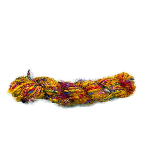 コミュニティトレード ランキングTOP5 雑貨 インド MING 黄系 最安値 サリーヤーン 100g
