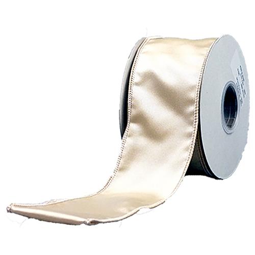 ファッション通販 コミュニティトレード 雑貨 インド MING ゴールド 幅6.25cm ギフト プレゼント ご褒美 ワイヤーリボン ヴィクトリアサテン