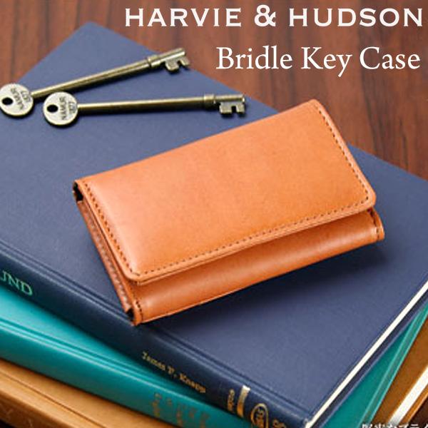 c35e8041db2599 キーケース メンズ ブライドルレザー 6連 Harvie and Hudson 牛革 レザー ブライドルレザー キーケース