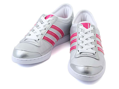 adidas (adidas) ALEXIS LOW MET (Alexis LOW MET) G30676 metallic silver / running white / radiant pink