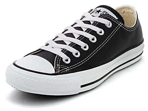 converse(コンバース) LEA ALL STAR OX(レザーオールスターOX) 1B906 ブラック【レディース】 | スニーカー シューズ 靴 ローカット ローカットスニーカー レディーススニーカー レディースシューズ ブランド カジュアルシューズ カジュアル 黒 くつ スニーカーレディース