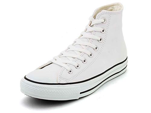 converse(コンバース) LEA ALL STAR HI(レザーオールスターHI) 1B907 ホワイト【メンズ】