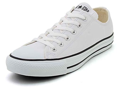 converse(コンバース) LEA ALL STAR OX(レザーオールスターOX) 1B905 ホワイト【メンズ】